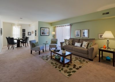 Furnished Living Room in apartment in South Jersey